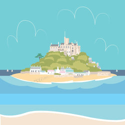 Colourful St Michaels Mount Art Print