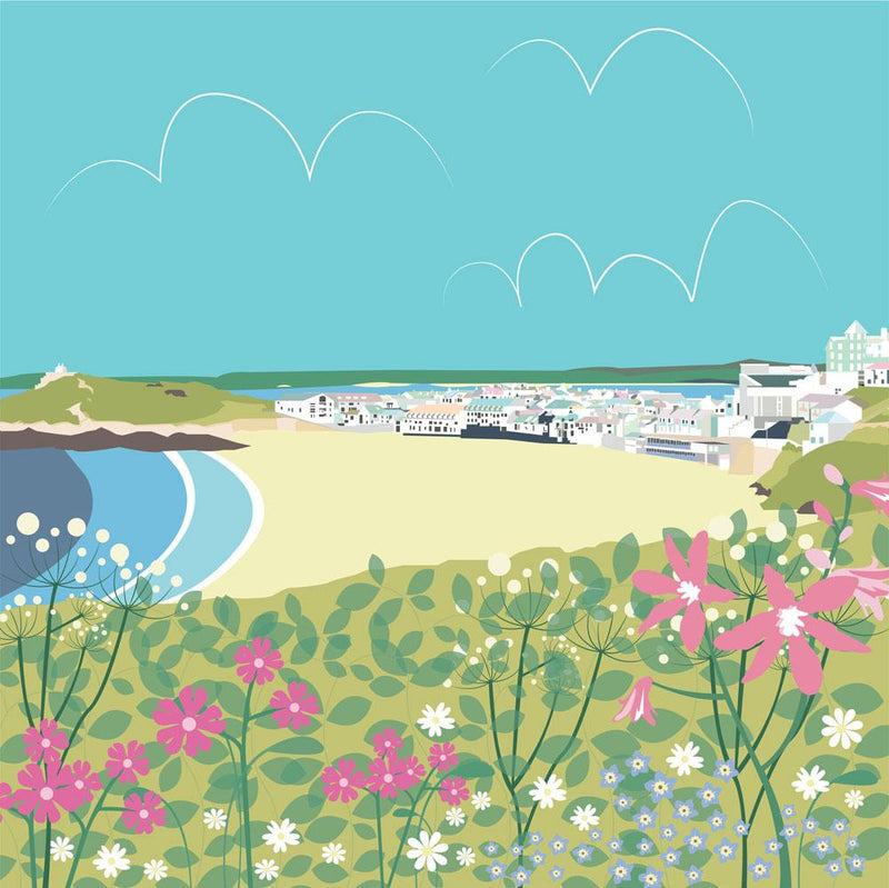 Colourful Porthmeor Art Print