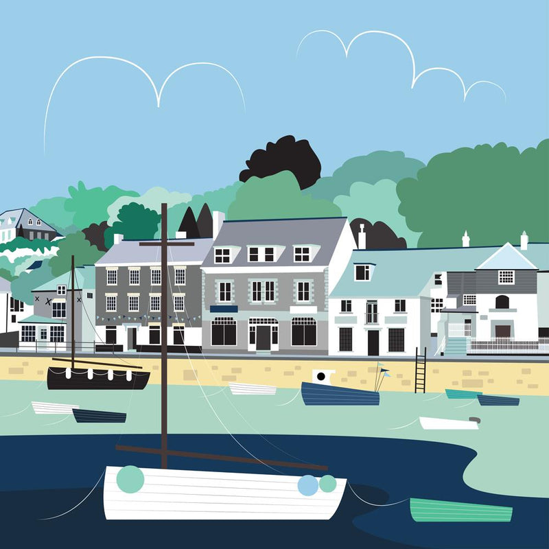 Padstow Blues Art Print