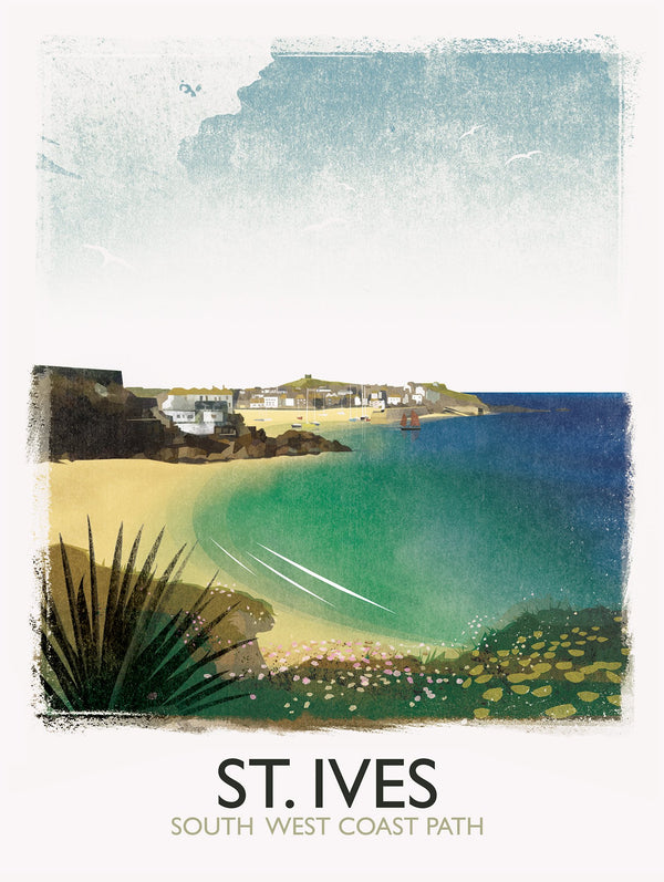 St Ives Bay Path Print