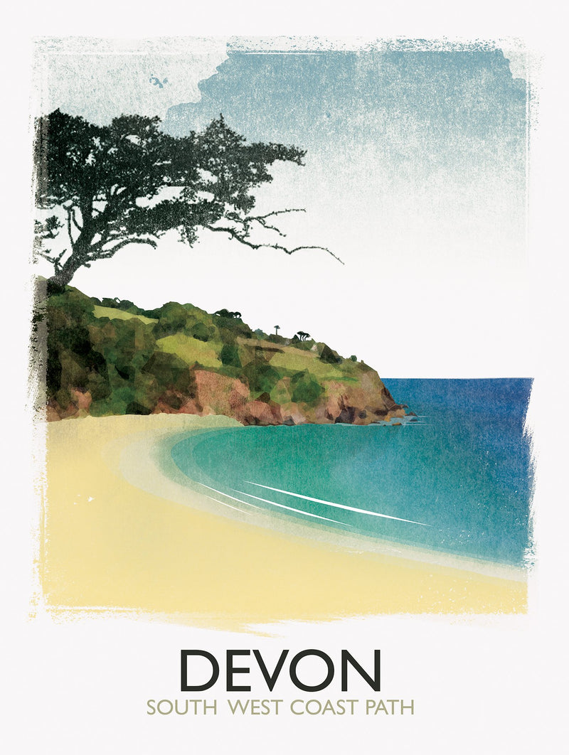 Devon Coast Path Print