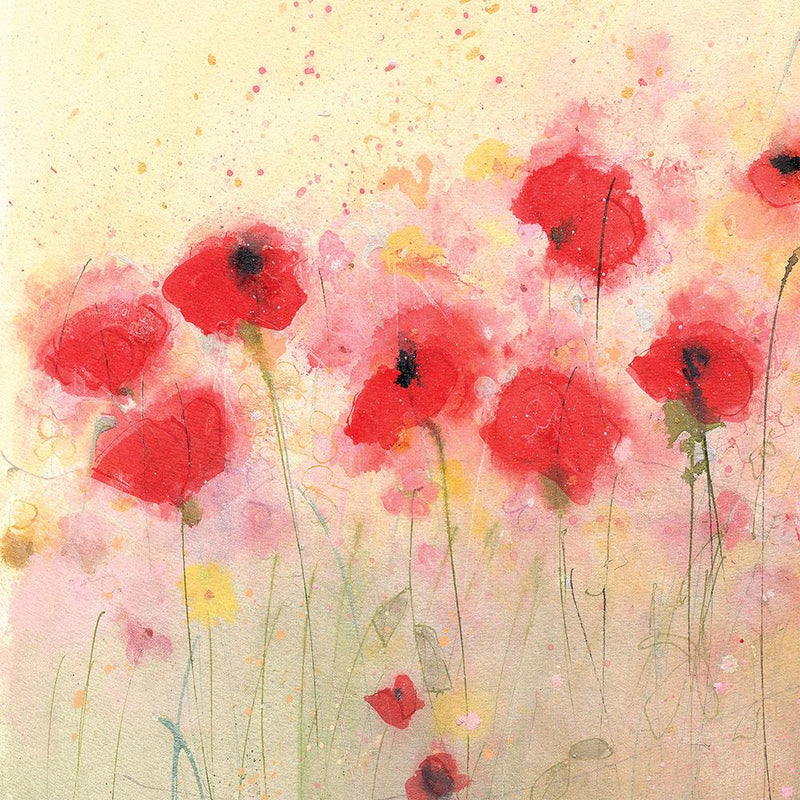 Poppies In The Field Small Floral Art Print
