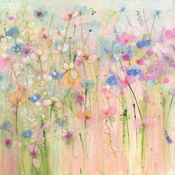 Pastel Blooms Small Floral Art Print