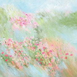 Pastel Meadow Small Floral Art Print