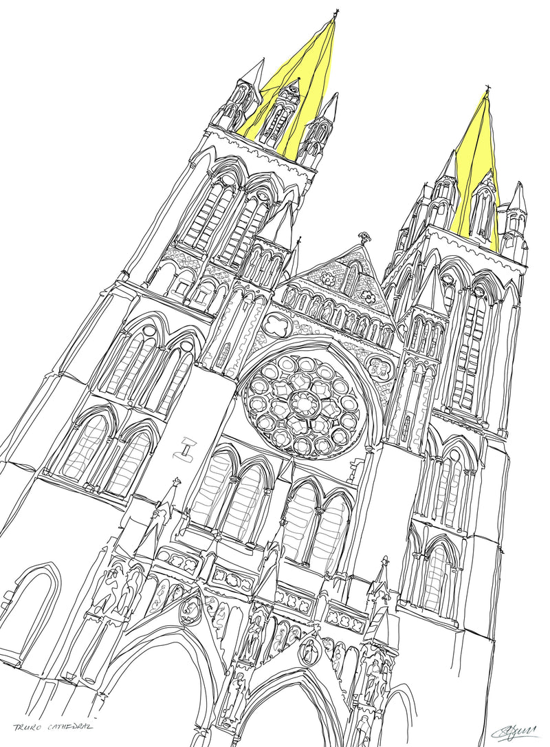Truro Cathedral Print