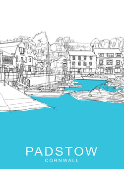 Padstow Cornwall Travel Print
