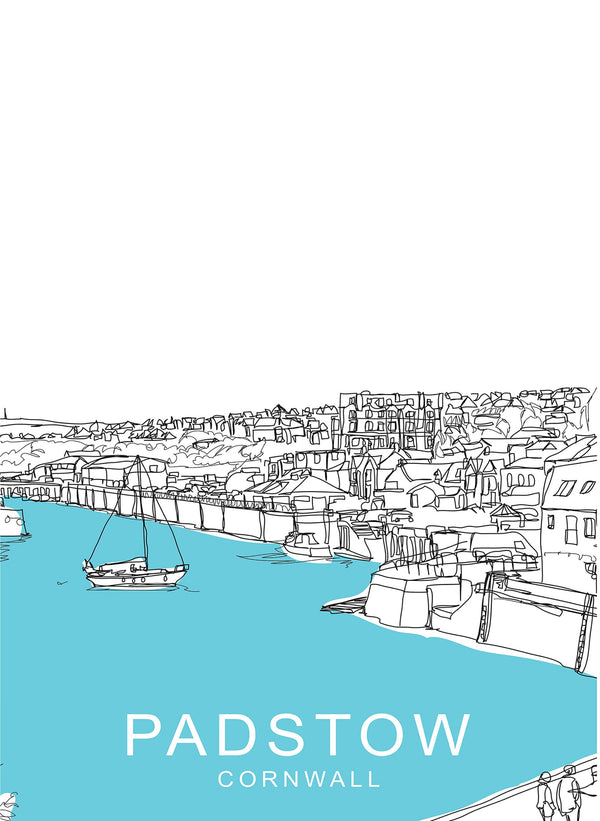 Over Padstow Travel Print