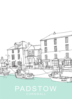 Padstow South Quay Travel Print