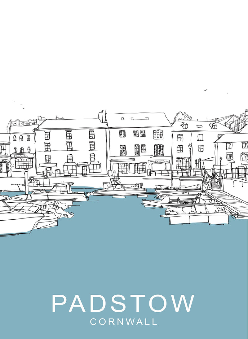 Padstow Strand Travel Print