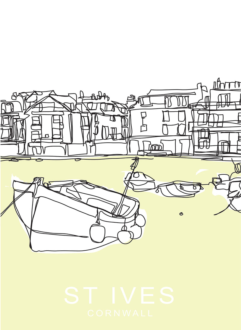 St Ives Beach Travel Print