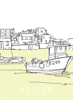 PZ49 Fishing Boat Travel Print