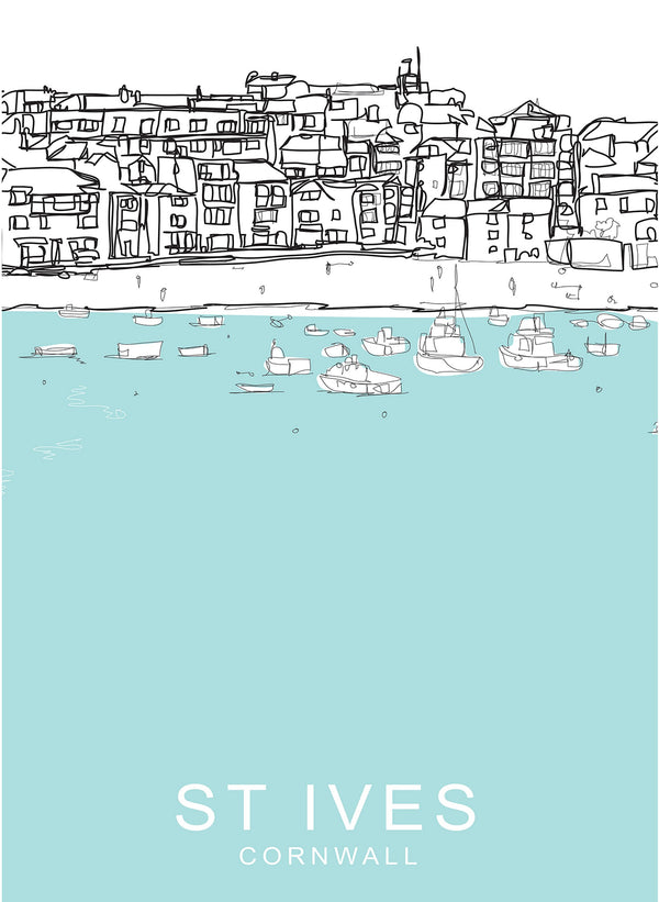 St Ives Bay Travel Print