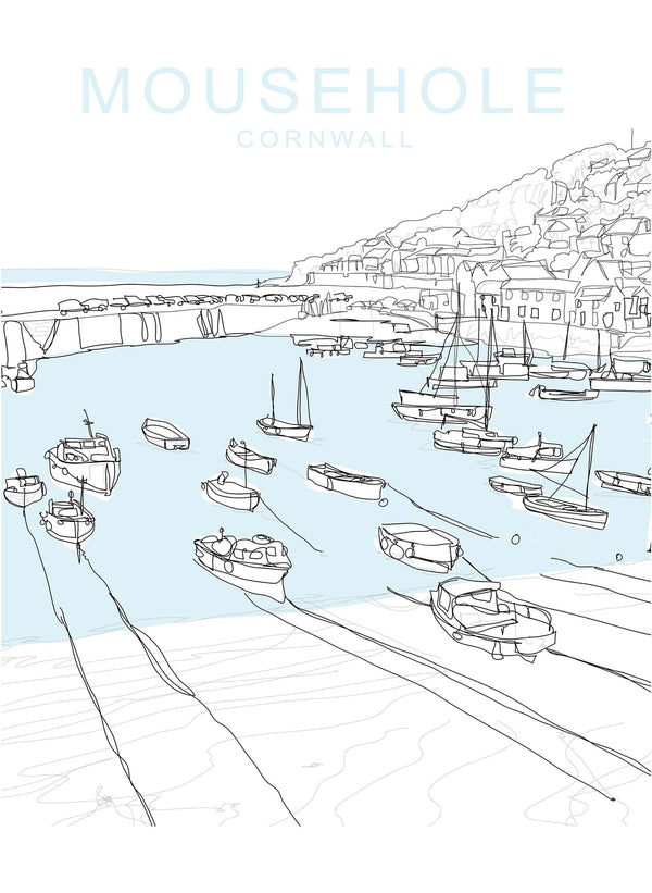 Mousehole Travel Print