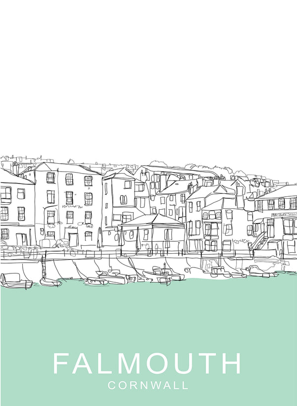 Falmouth Travel Print