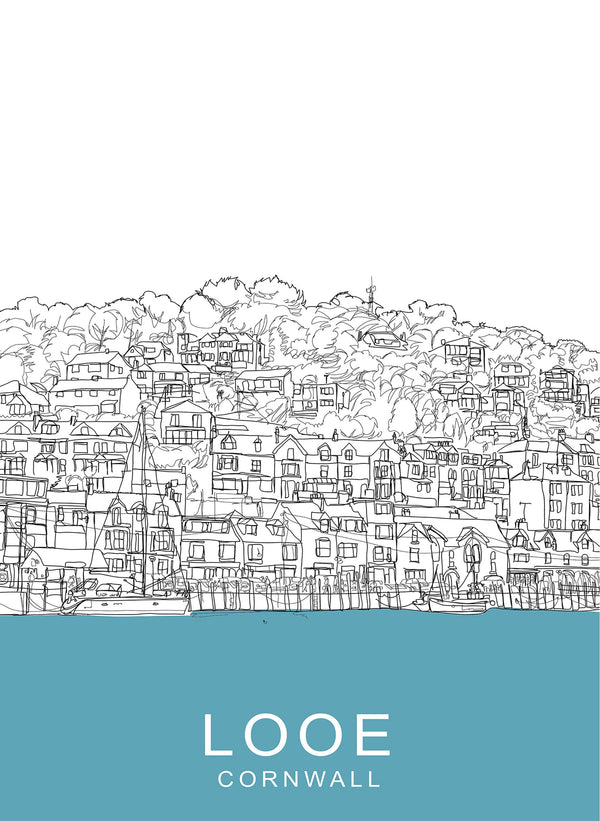 Looe Travel Print