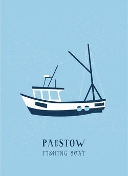 Padstow Fishing Boat Art Print