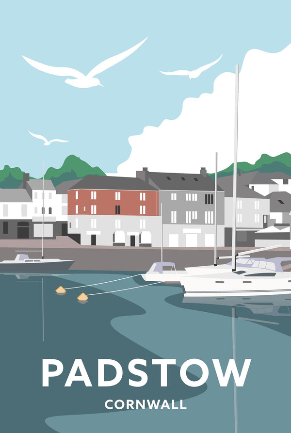 Padstow South Quay Cornwall Travel Art Print