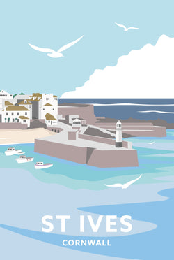 St Ives Cornwall Travel Art Print