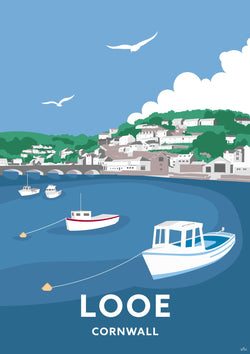 Looe Cornwall Travel Art Print
