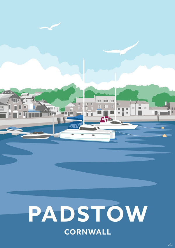 Padstow Strand Cornwall Travel Art Print