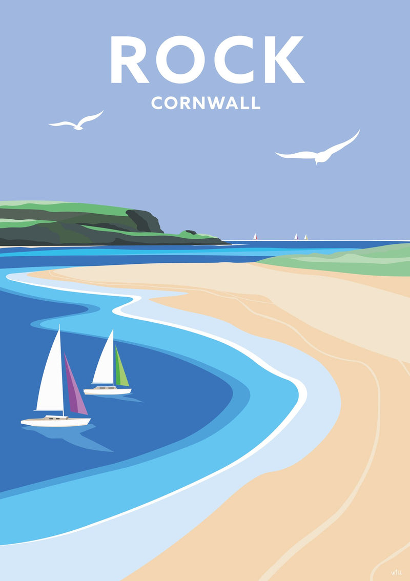 Rock Cornwall Travel Art Print
