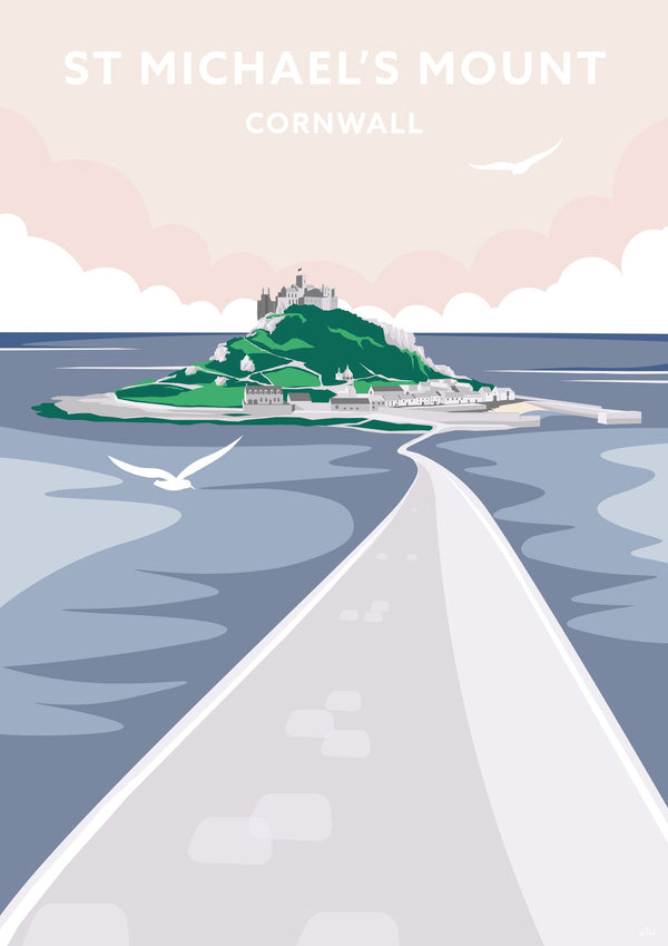 St Michael's Mount Travel Art Print