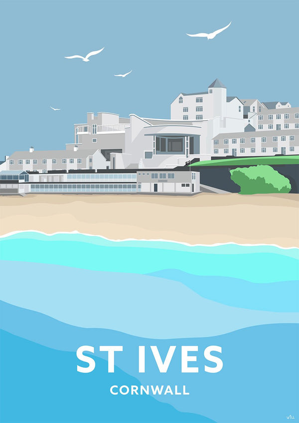 St Ives Tate Gallery Travel Art Print