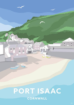 Port Isaac Travel Art Print