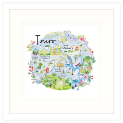 Truro Map Framed Print
