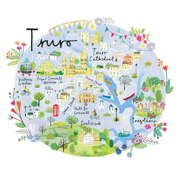 Truro Map Art Print