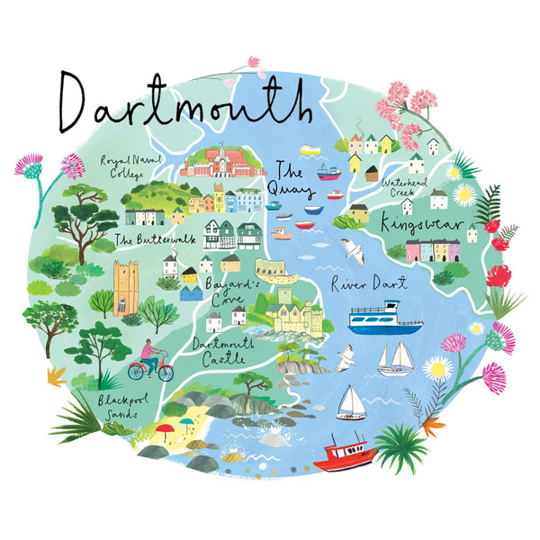 Dartmouth Map Art Print