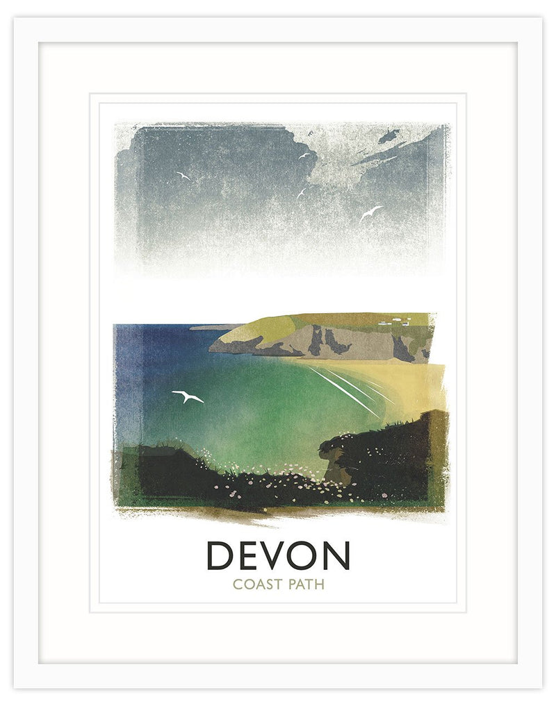 Devon Coast Framed Print