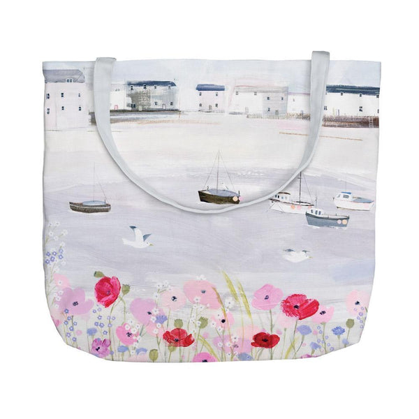 Sea Mist & Poppies Tote Bag
