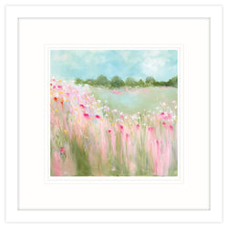 Field Of Blooms Small Framed Art Print