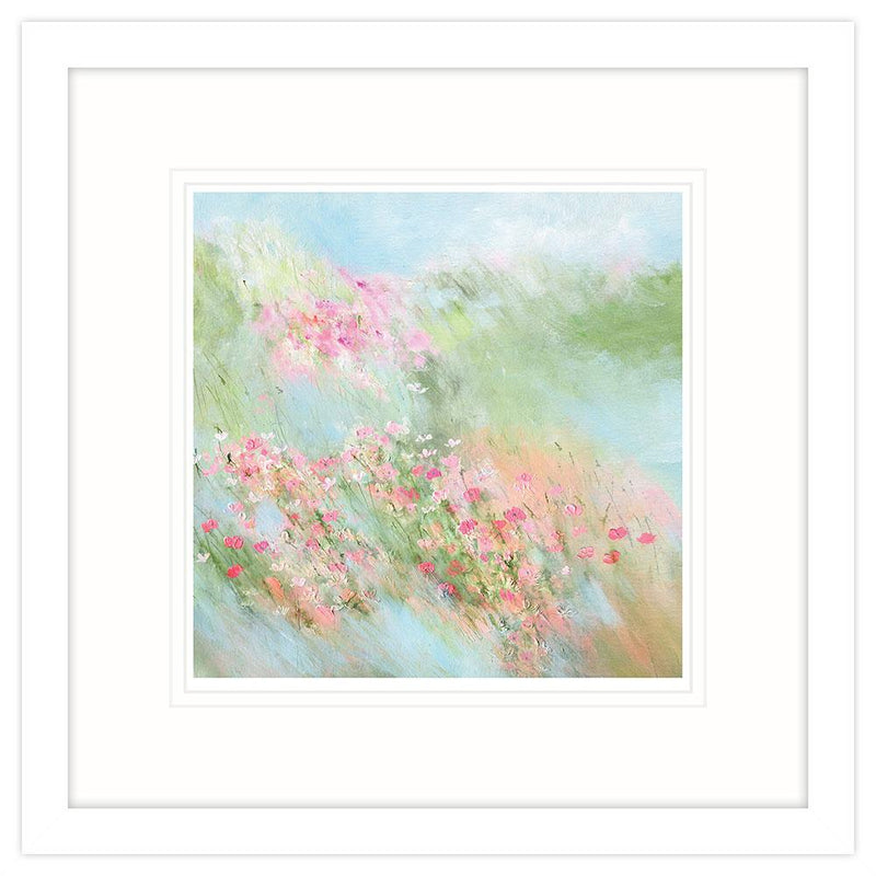 Pastel Meadow Small Framed Art Print