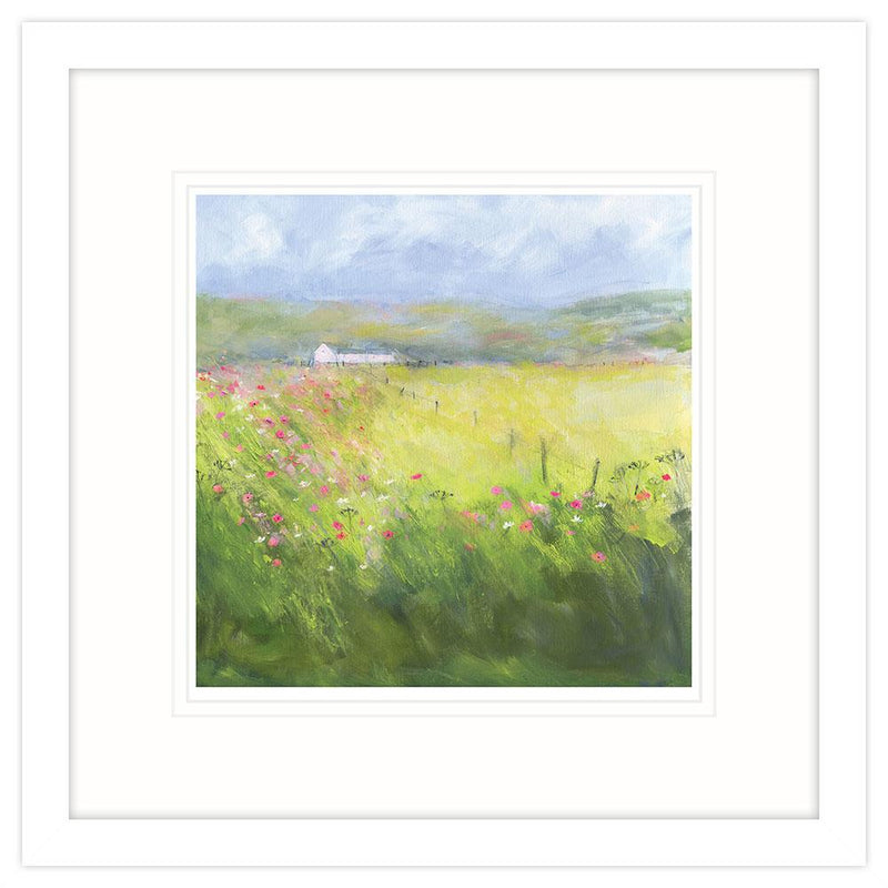 Country Meadow Small Framed Art Print