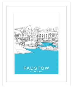 Padstow Cornwall Framed Travel Print