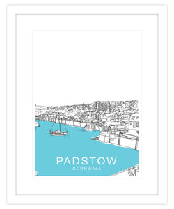 Over Padstow Framed Travel Print