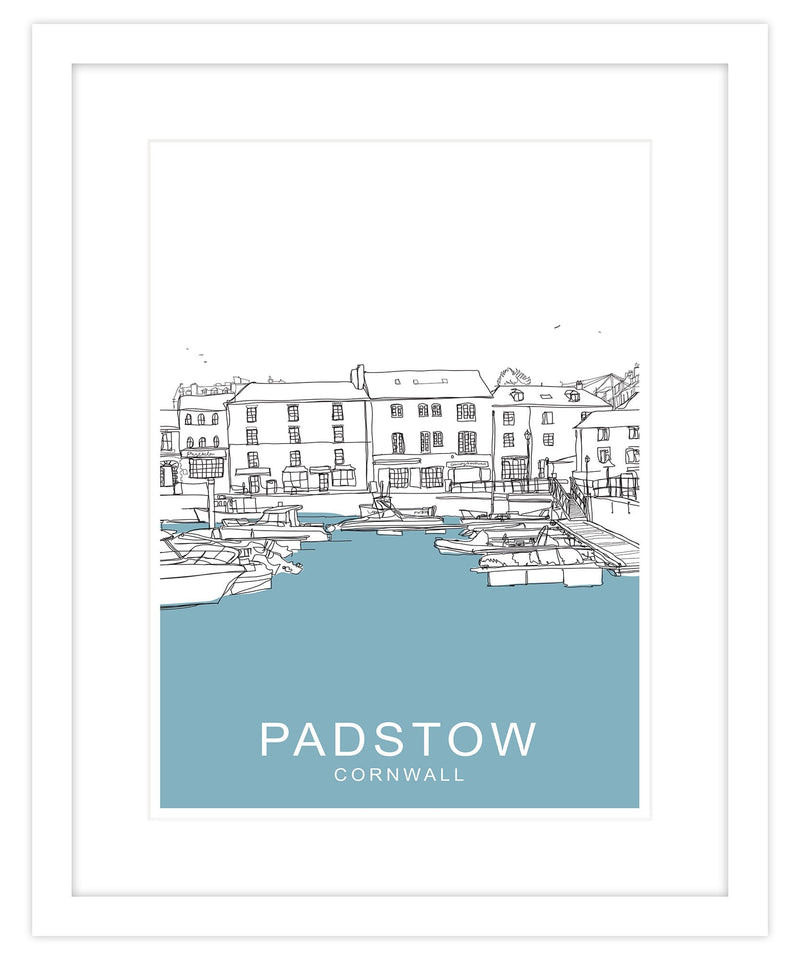 Padstow Strand Framed Travel Print