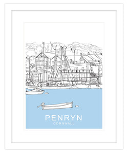 Penryn Framed Travel Print