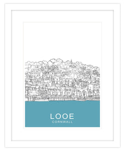 Looe Framed Travel Print