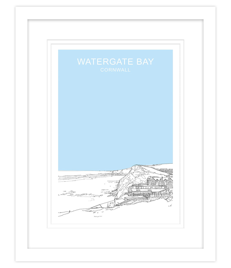Watergate Blue Framed Print