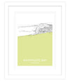 Watergate Yellow Framed Print
