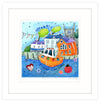 Bunting Over Fowey Framed Print