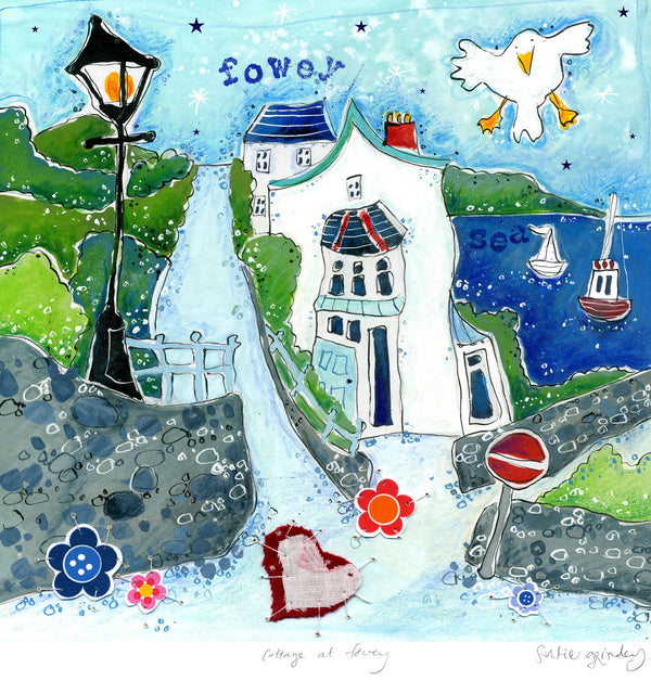 Cottage At Fowey Art Print