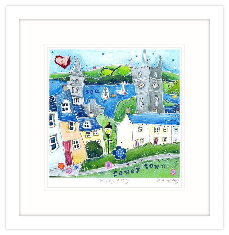 Sunny Day At Fowey Framed Print