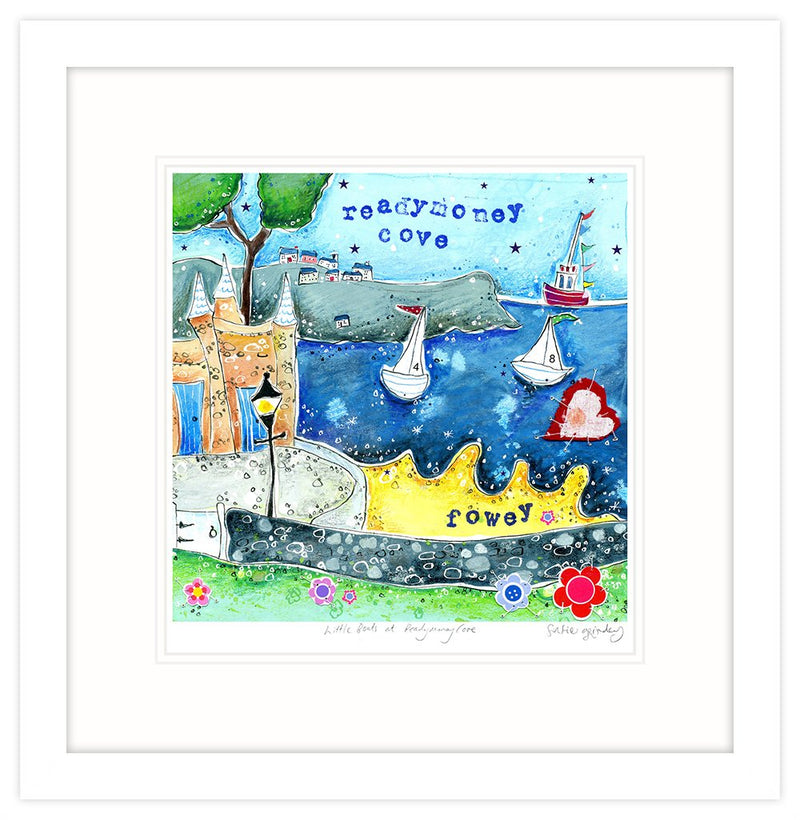 Little Boats At Readymoney Cove Framed Print