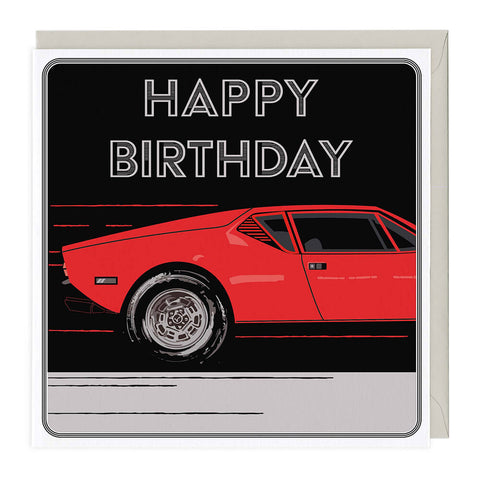 Sports Car Birthday Card