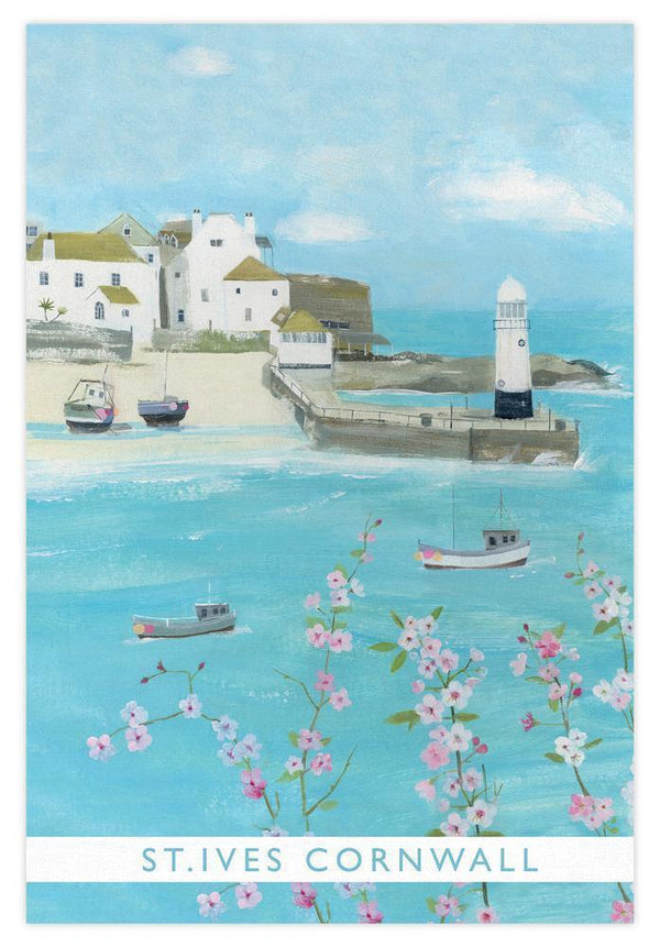 St Ives Cornwall Coastal Tea Towel