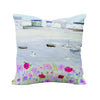 Sea Mist & Poppies Art Cushion